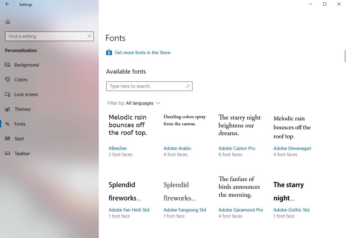 How To Install And Uninstall Fonts In Windows 10