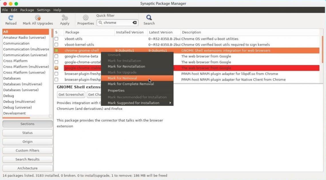 synaptic package manager ubuntu