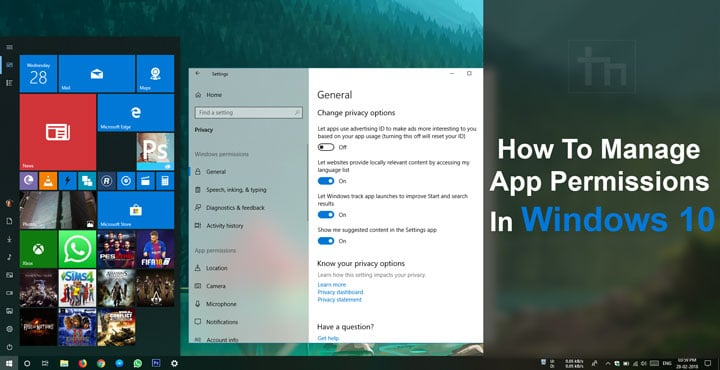 Manage App Permissions in Windows 10
