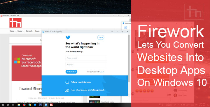 Firework Lets You Convert Websites Into Desktop Apps On Windows 10