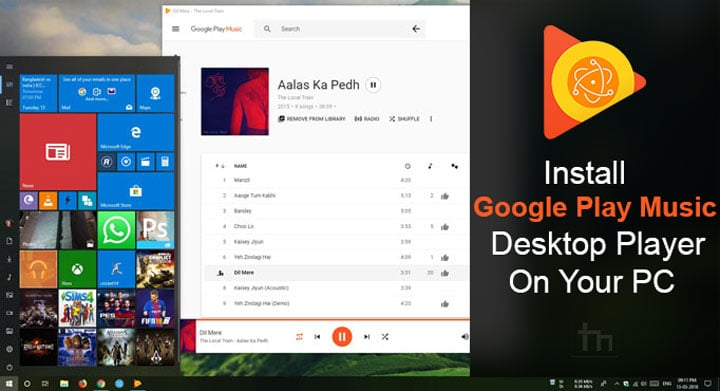 Install Google Play Music Desktop Player on Your PC | Technastic
