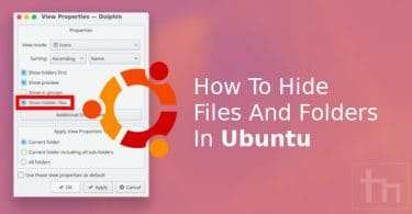 Hide Files and Folders in Ubuntu