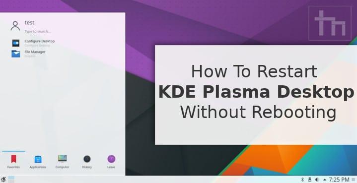 Restart KDE Plasma Desktop without Rebooting
