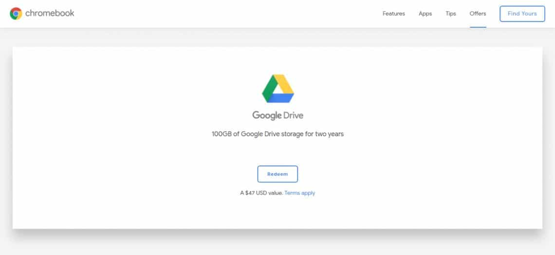 google drive space chrome os