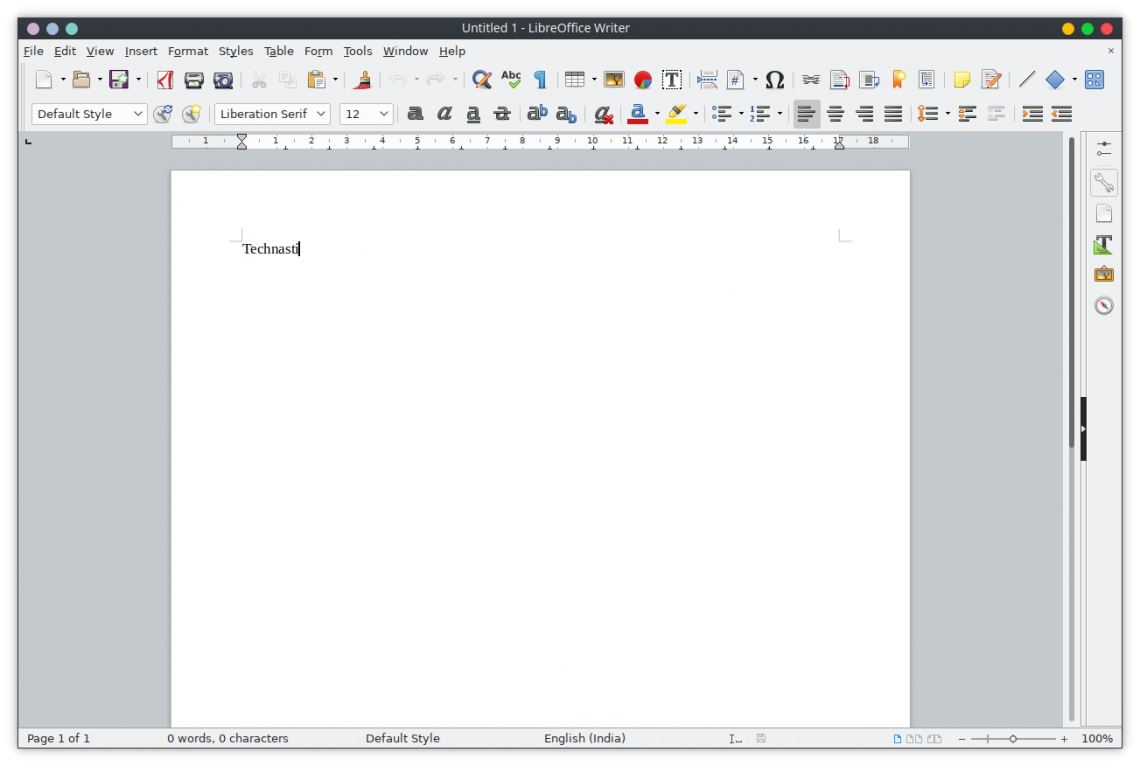 LibreOffice official theme