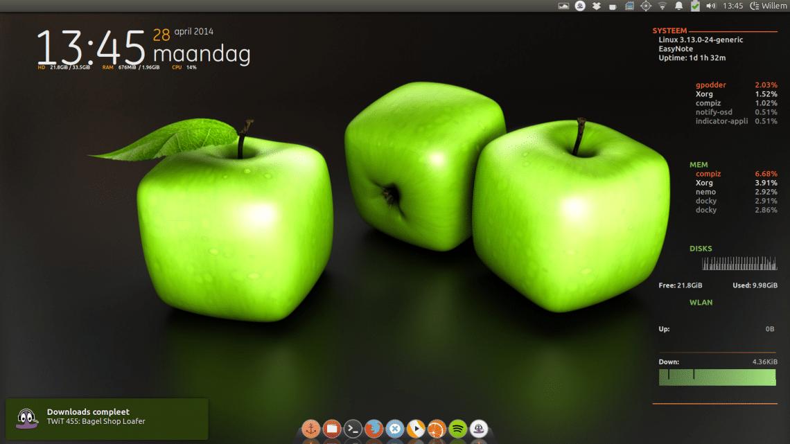 Ubuntu 18.04 desktop widgets
