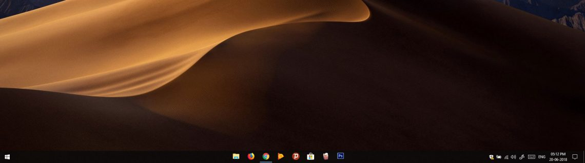 how to change taskbar icons windows 10