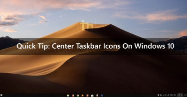 Quick Tip: Center Taskbar Icons On Windows 10