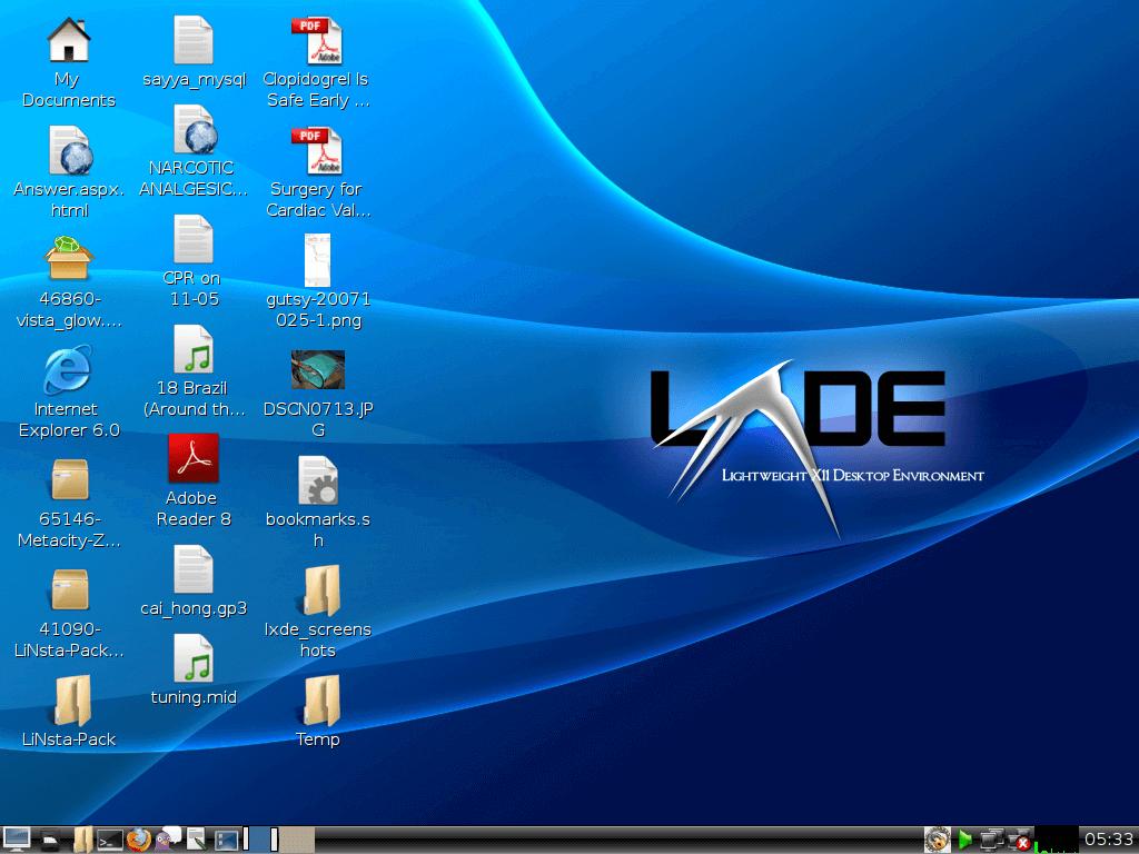 lxde desktop environment