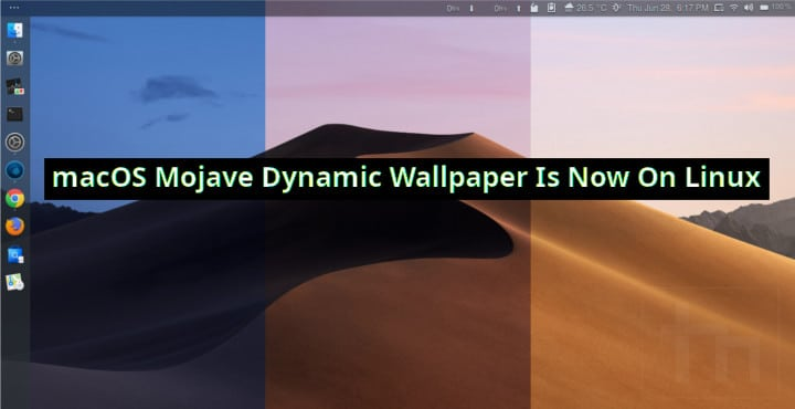 Get macOS Mojave Dynamic Wallpaper on Linux