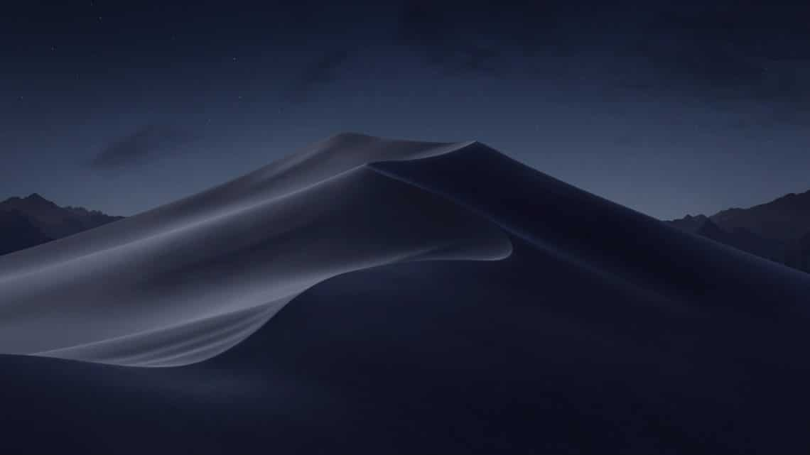 Mojave night wallpaper
