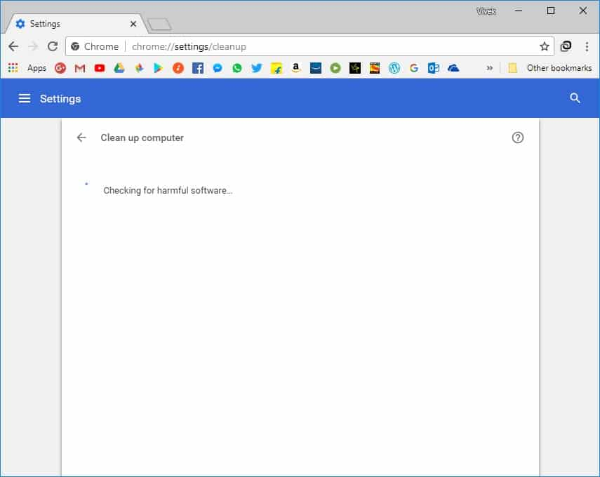 clean up computer with chrome