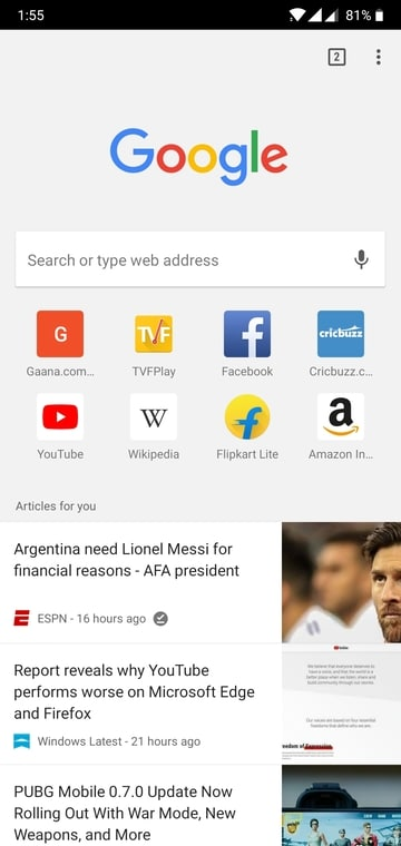 How To Remove Article Suggestions On Chrome For Android