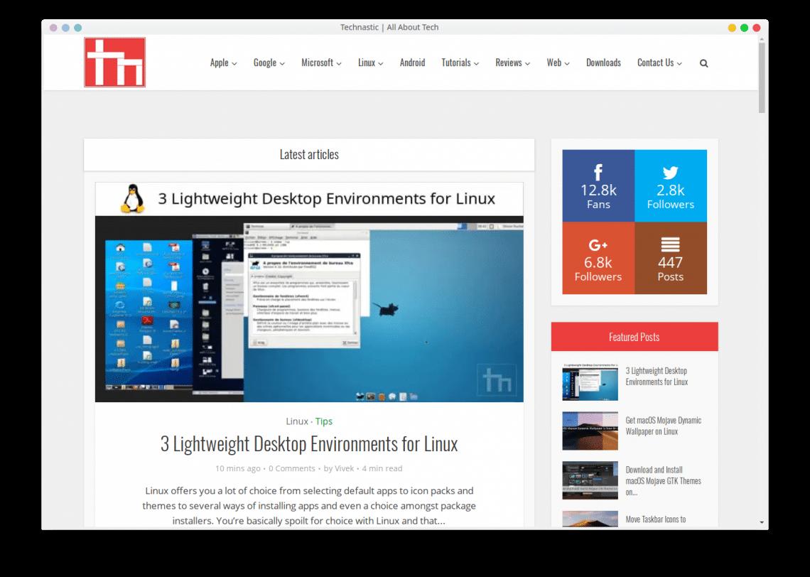Technastic website as desktop app