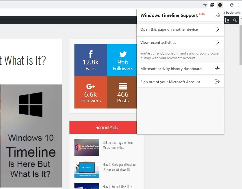 Make Chrome & Firefox Integrate With Windows 10 Timeline