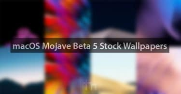 Download macOS Mojave Beta 5 Stock Wallpapers