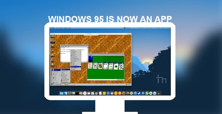You can now run Windows 95 on your desktop as an Electron app