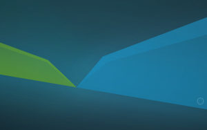 Xubuntu 18.04 green blue wallpaper