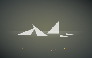 Xubuntu 18.04 flying triangle wallpaper