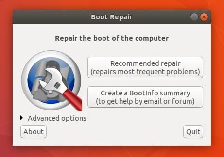 GRUB Boot repair tool