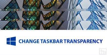 Change Taskbar Transparency on Windows 10