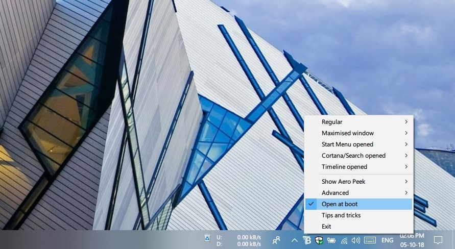 Change Taskbar Transparency on Windows 10