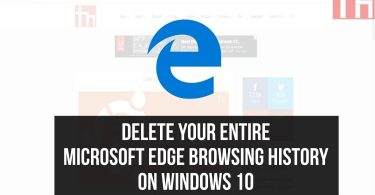 Delete Microsoft Edge Browsing History on Windows 10