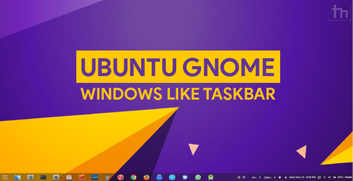 Get Windows Like Taskbar on Ubuntu GNOME