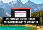 Command History Feature of Command Prompt on Windows 10