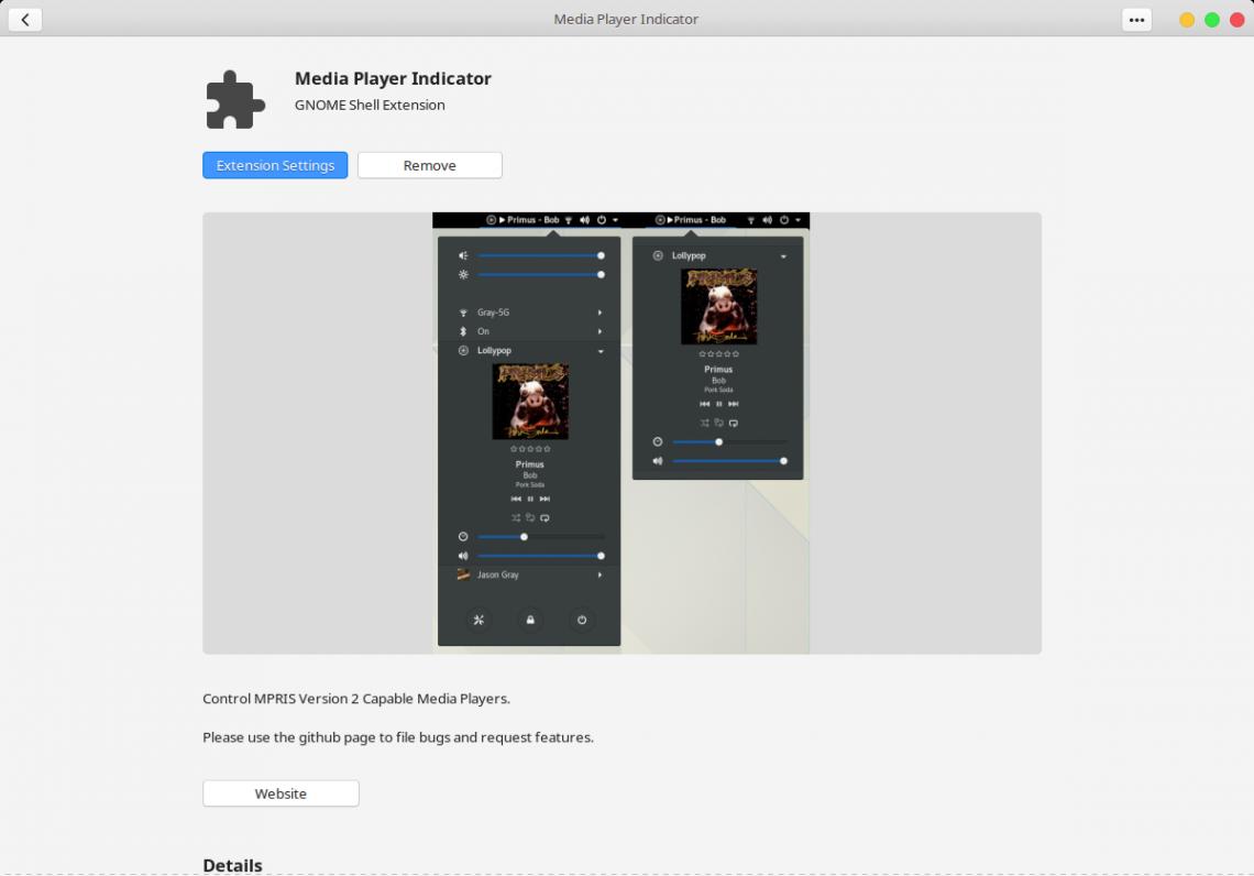 Add Media Controls in System Tray on Ubuntu (GNOME)
