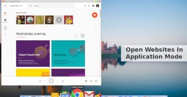 Open Websites in Application Mode With Google Chrome