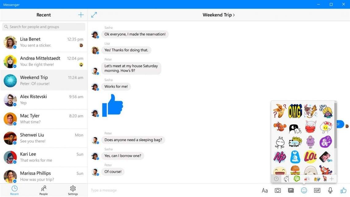 facebook messenger official windows 10 client