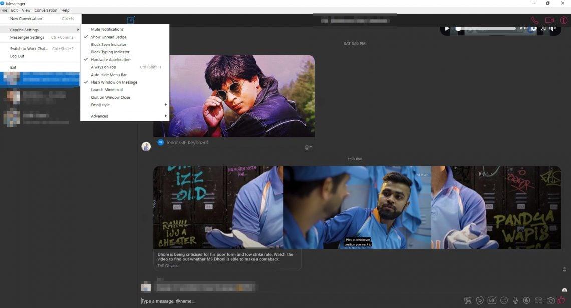caprine messenger client for windows 10