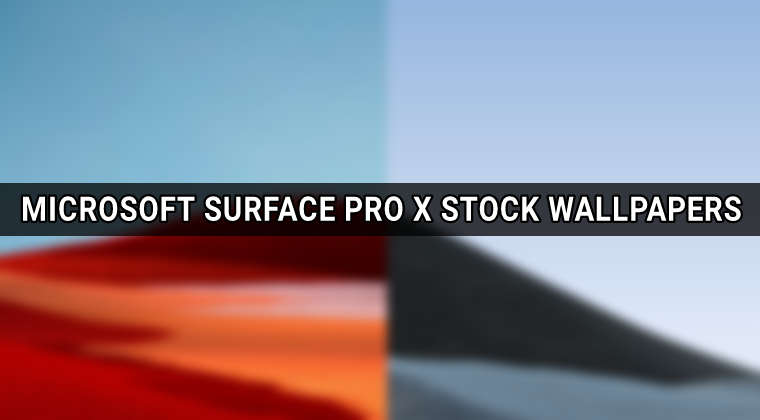 microsoft surface pro x wallpapers featured image
