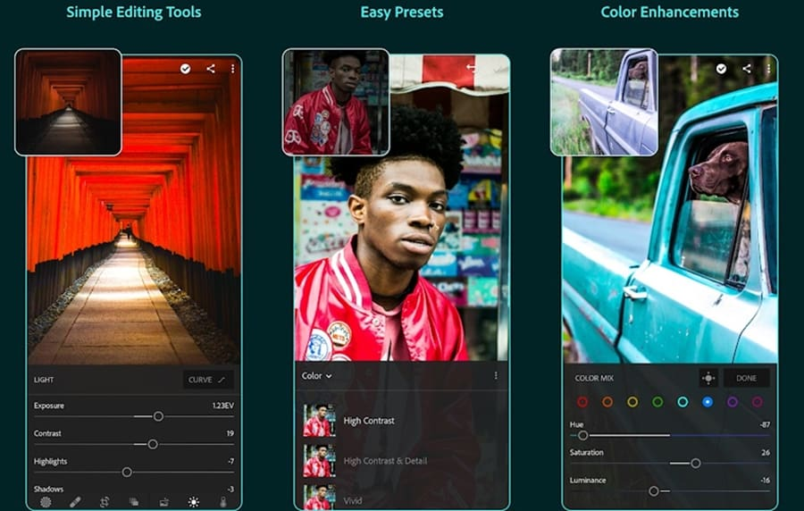 Lightroom editing apps for iOS