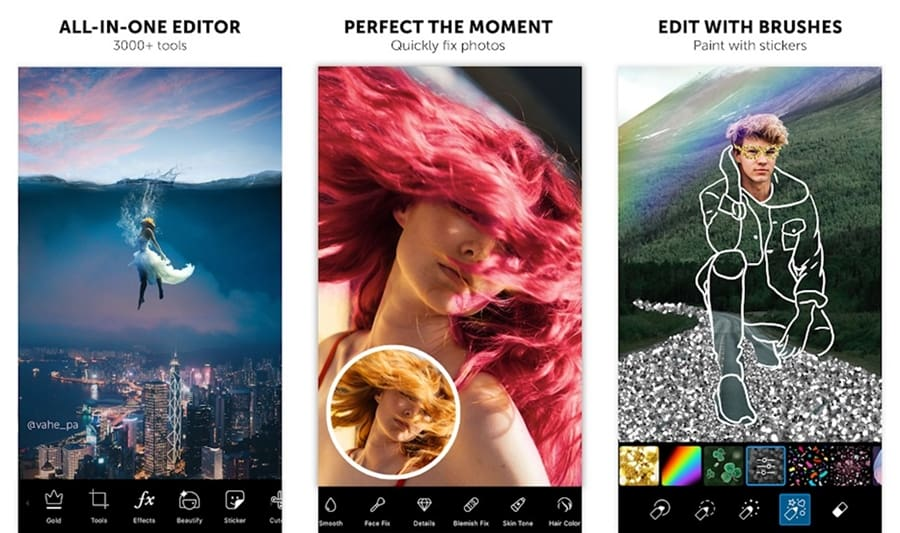 PicsArt photo editing apps for iOS