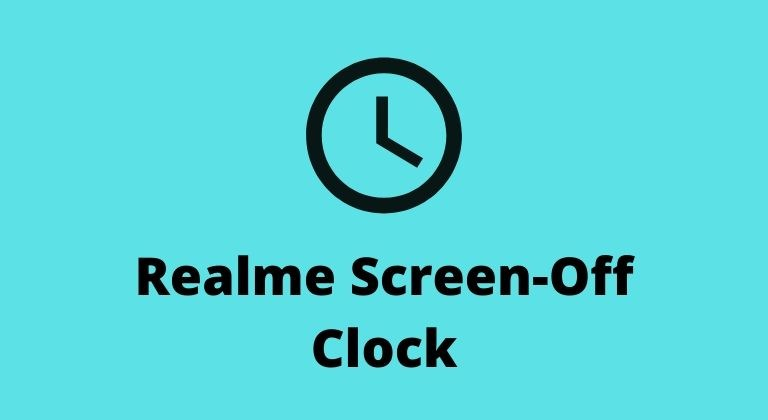Screen-Off Clock on Realme