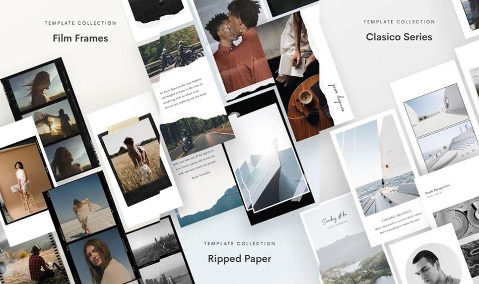 Unfold Instagram templates