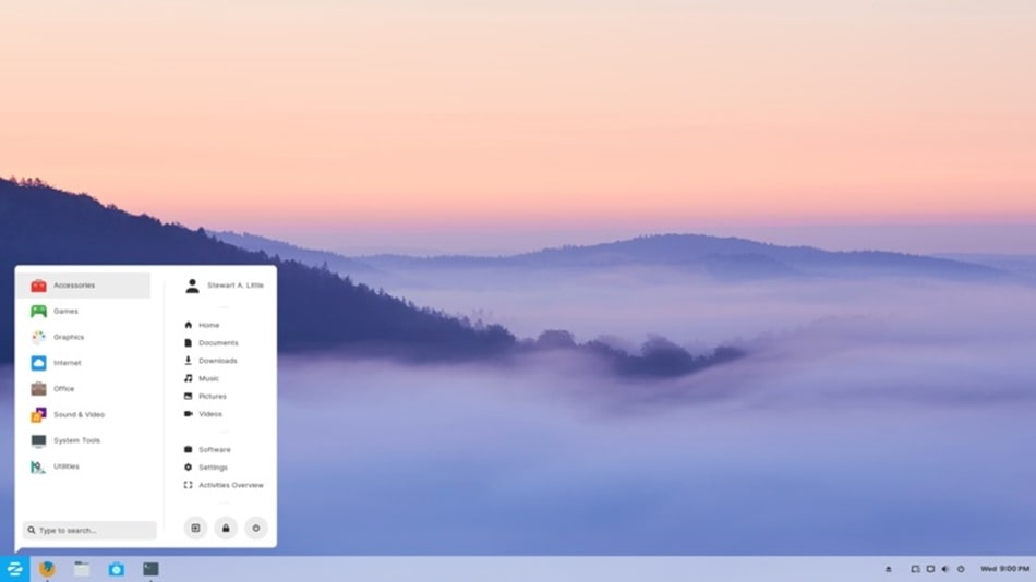 Zorin OS screenshot