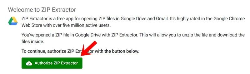extract zip authorize