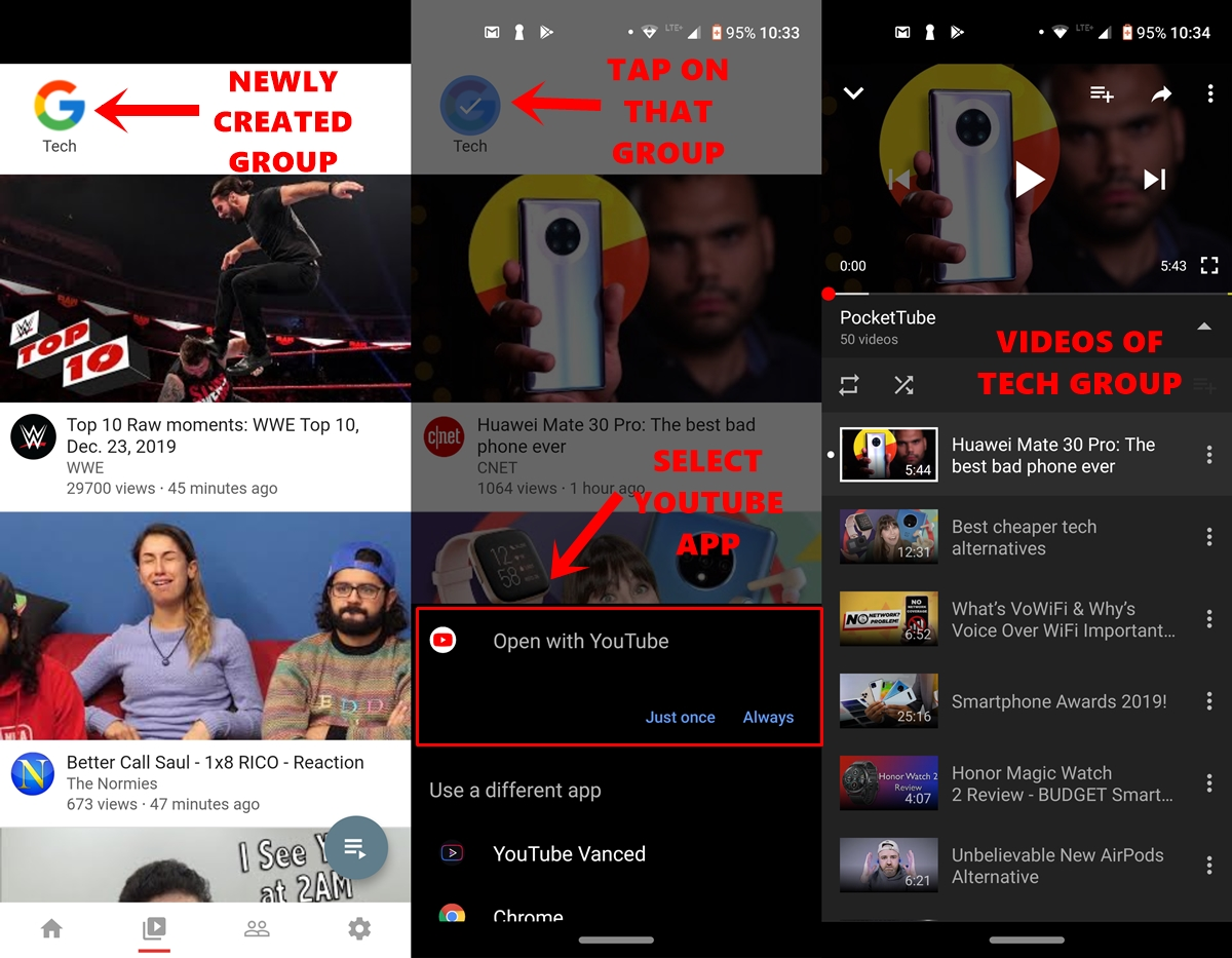 manage youtube subscription