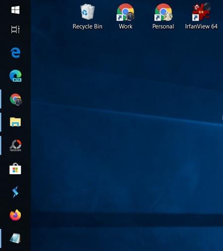 vertical windows taskbar