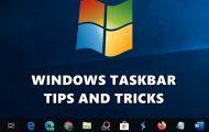 windows taskbar tips