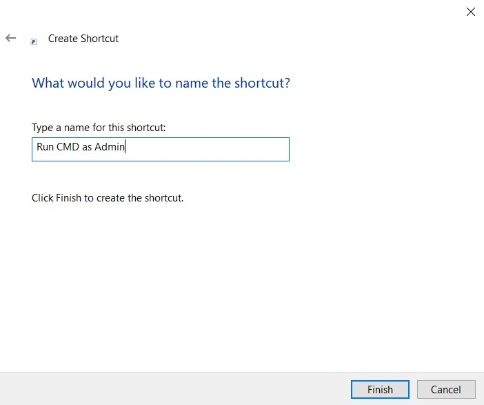 command prompt shortcut name