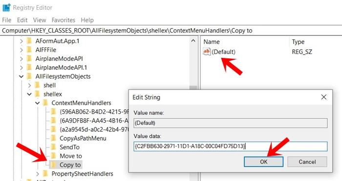copy context data