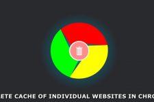 delete cache chrome