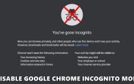 disable chrome incognito