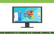 pin websites taskbar