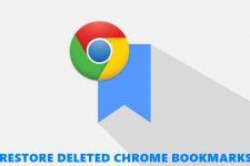 restore chrome bookmarks