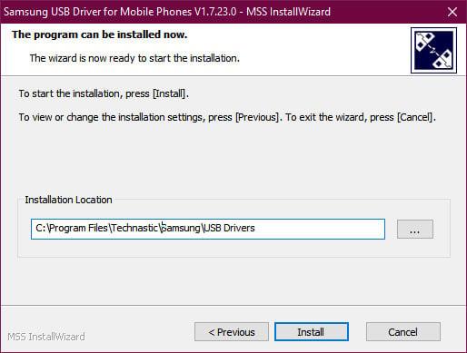 install samsung driver
